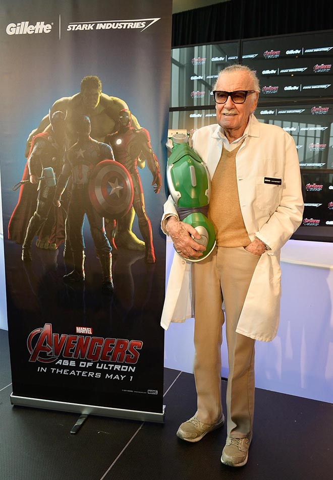 Gillette Avengers Razors with Stan Lee