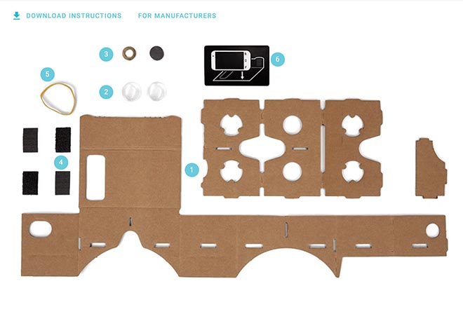 Google Cardboard instructions