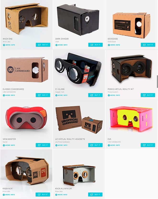 Google Cardboard products