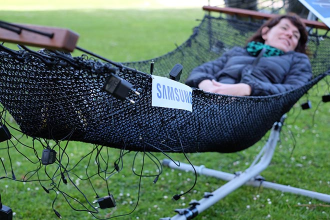 Samsung Recharge Yourself cable hammock