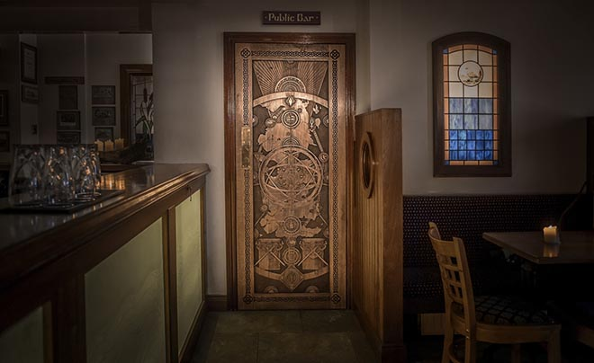 Doors of Thrones in The Cuan Bar, Strangford, from Game of Thrones in Northern Ireland