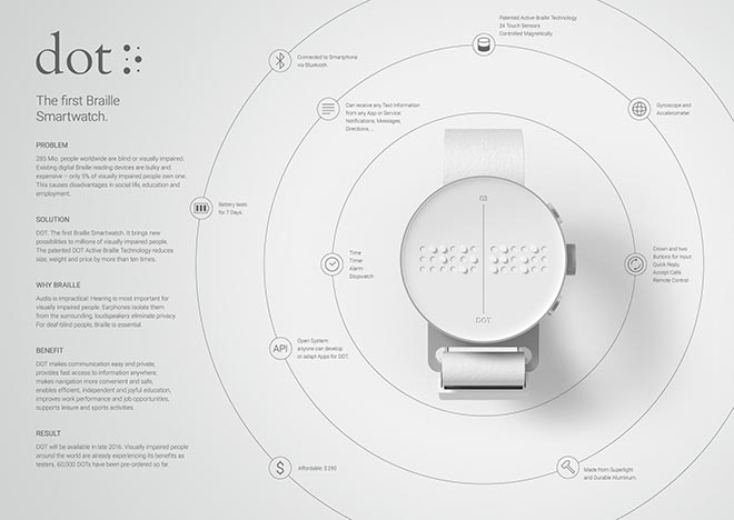 DOT Braille Smart Watch