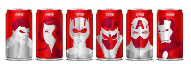 Coca-Cola Marvel cans