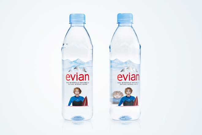 Evian Baby Bay Surfer Bottles