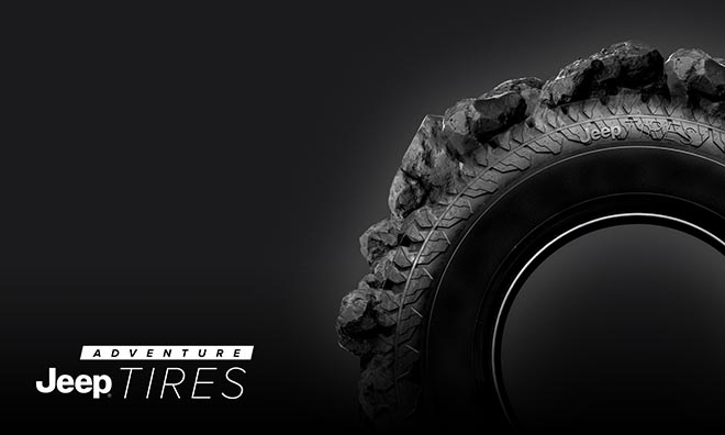 Jeep Adventure Tires on black