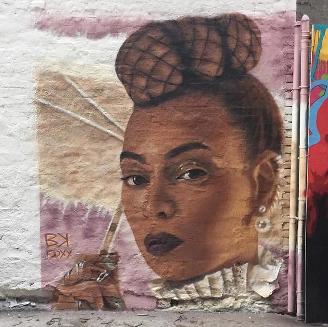 MTV Video Music Awards 2016 mural Beyonce Formation