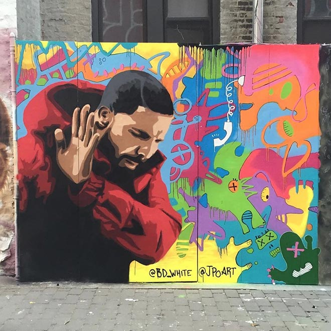 MTV Video Music Awards 2016 mural Drake Hotline Bling