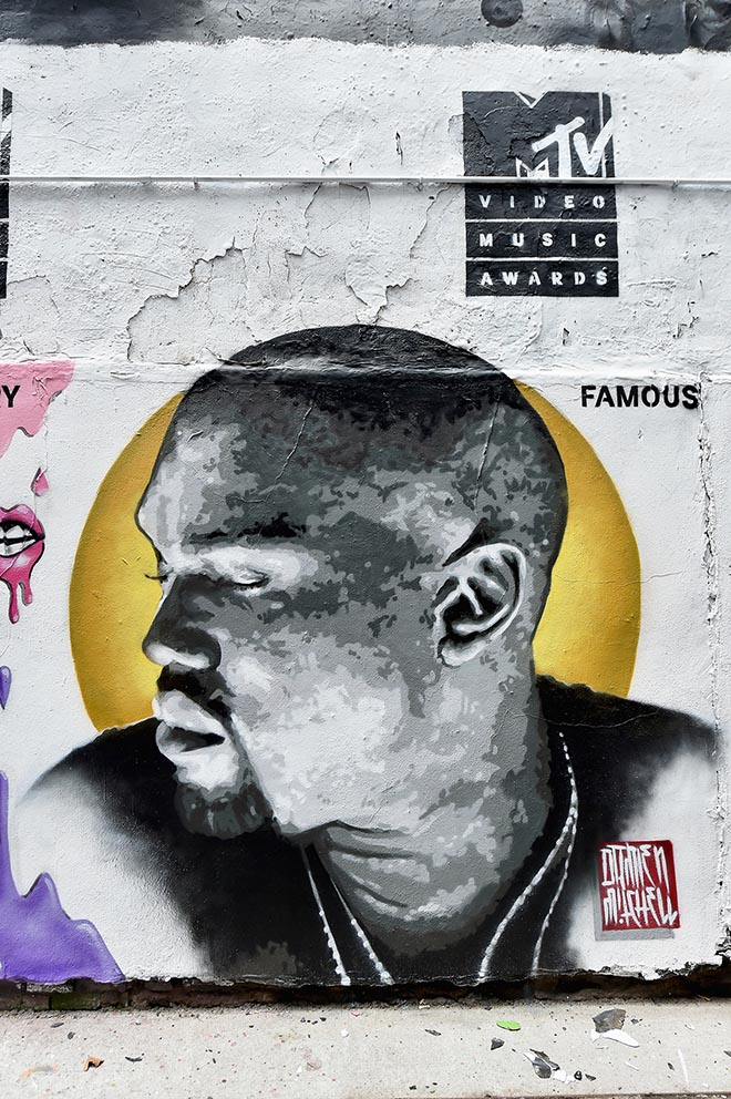 MTV Video Music Awards 2016 mural Kanye West Famous