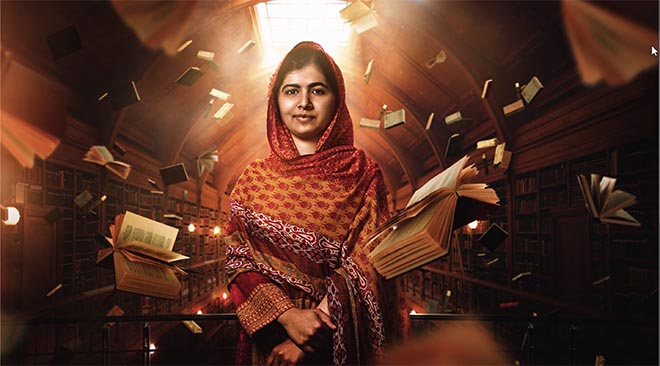 Malala Yousafzai in Adobe Creativity for All commercial
