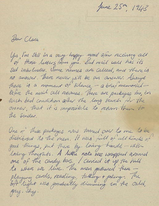 Letter from Abraham to Clara page 1