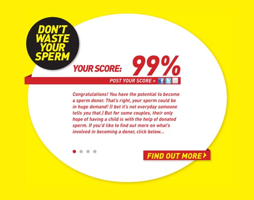 99 Percent on Don't Waste Your Sperm site