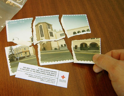 Red Cross Torn Card from Argentina