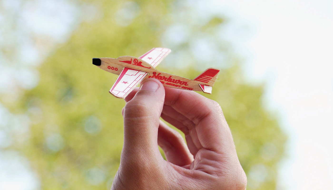 Norburn Model Aircraft Card - The Inspiration Room