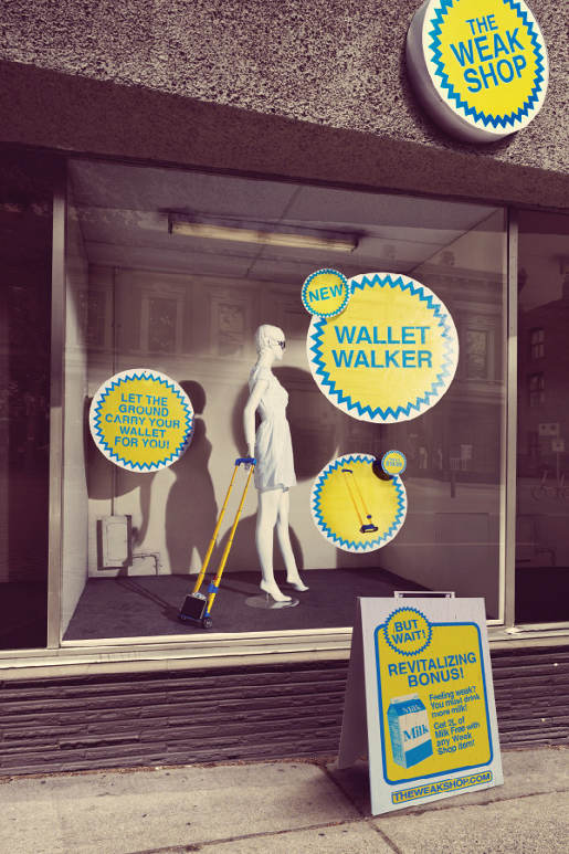 The Weak Shop Wallet Walker bus shelter ad