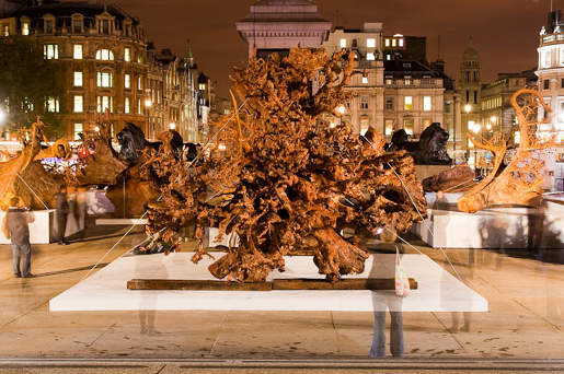 Ghost Forest in Trafalgar Square, London