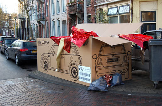 Mini Cooper box in Amsterdam
