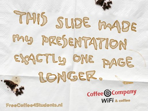 Coffee Company PowerPoint Slide Stay Awake Get a Latte