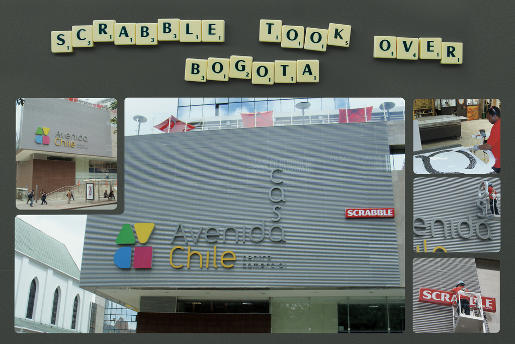 Scrabble Avenida Chile advertisement