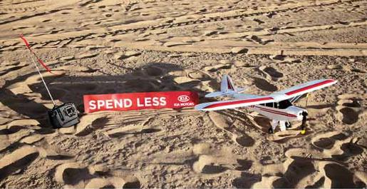 Kia Model Airplane with banner