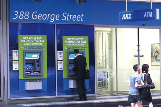 Tax Today board on 388 George Street ANZ ATM