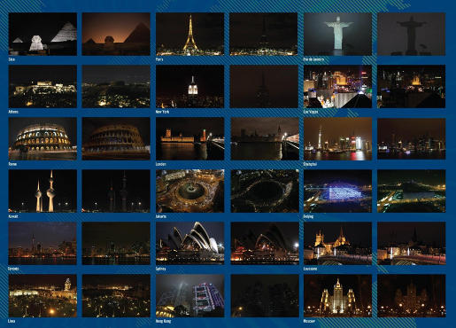 WWF Earth Hour monuments