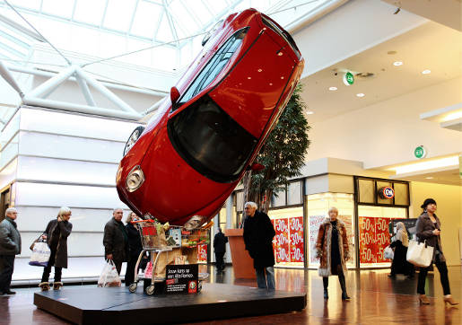 Alfa Romeo in Shopping Trolley