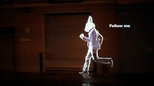 Alice Rabbit Follow Me projection