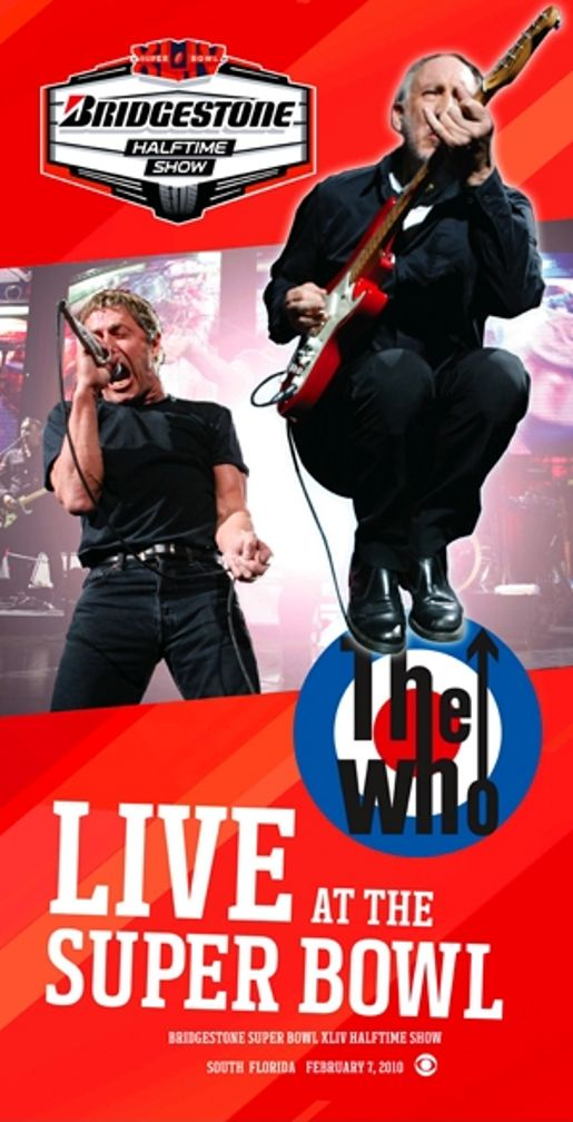 Bridgestone The Who poster for Super Bowl 2010