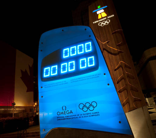 Omega Vancouver 2010 Countdown Clock