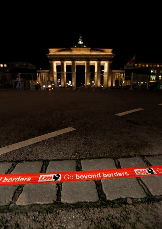 Go Beyond Borders Berlin art at Brandenburg Gate