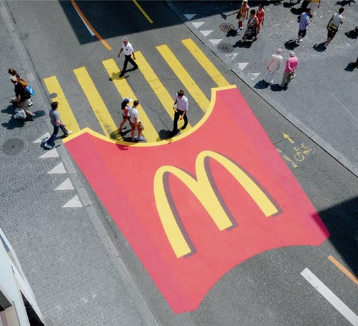 McDonalds Fries Pedestrian Crossing