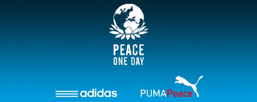 Adidas and Puma Peace One Day