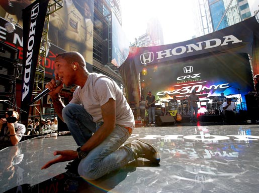 Honda CRZ 3D Times Square takeover