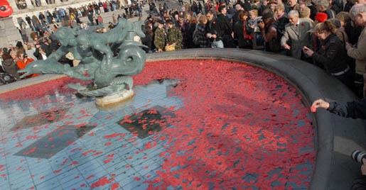 Trafalgar Square Poppies