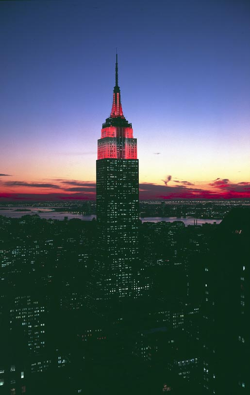Empire State Building (red)