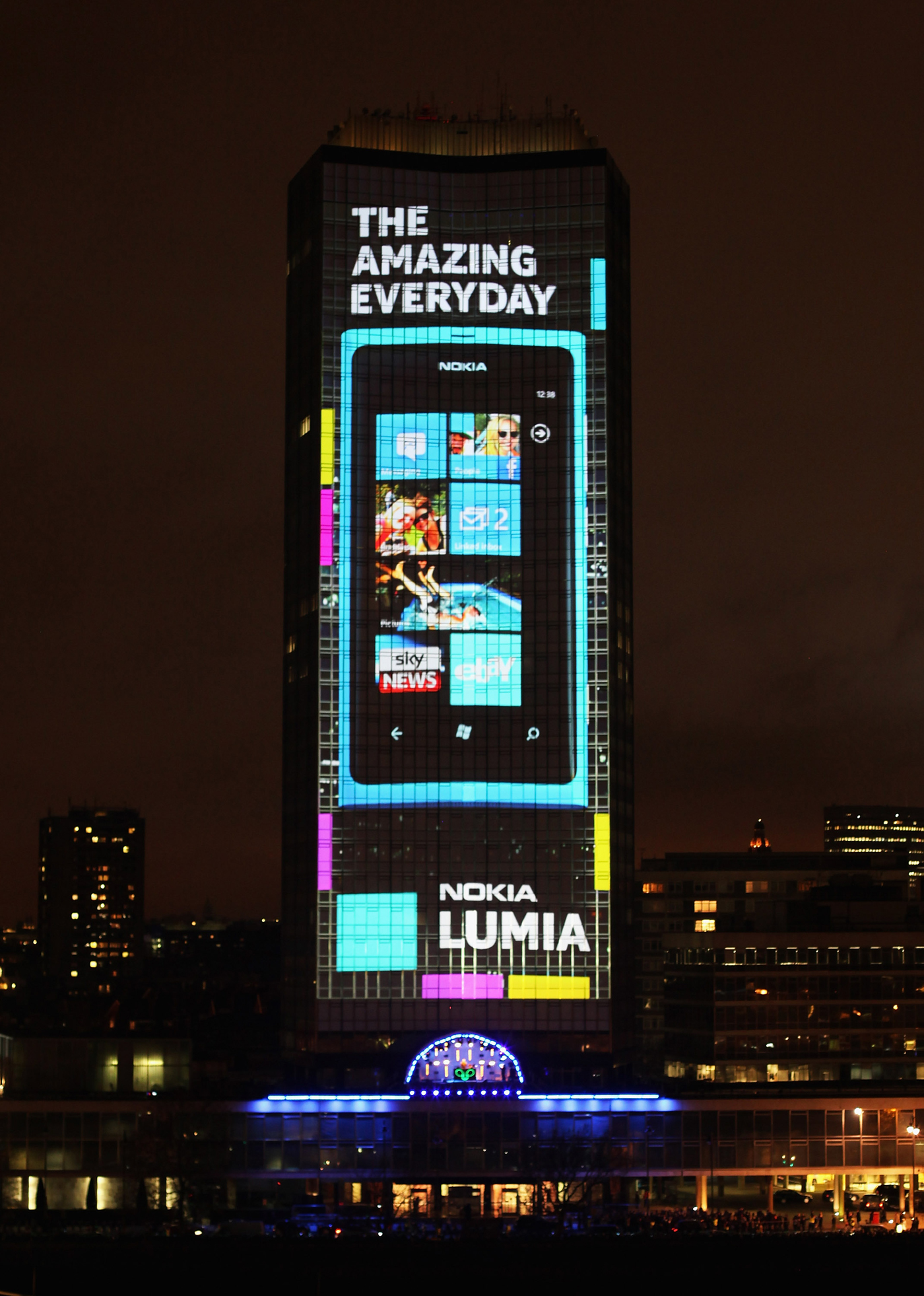 Nokia Lumia Live On Millbank Tower The Inspiration Room