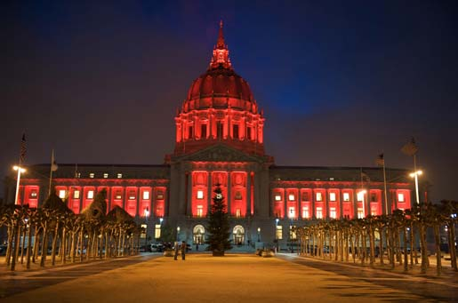 San Francisco City Town Hall (red)