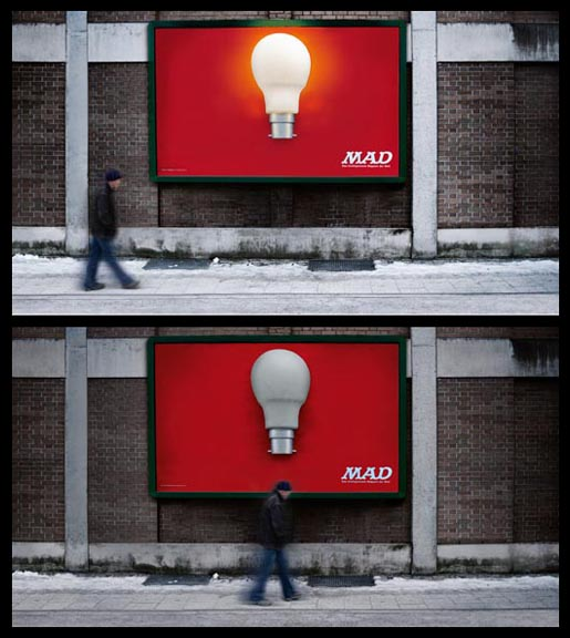 MAD Light Bulb wall
