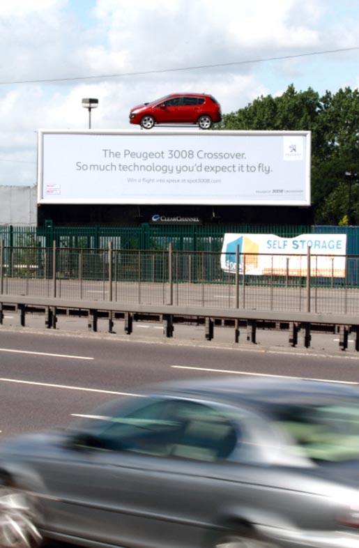 Peugeot 3008 on Special Build Billboard