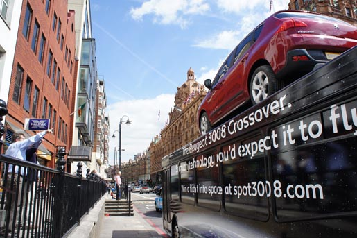 Peugeot 3008 Bus at Harrods