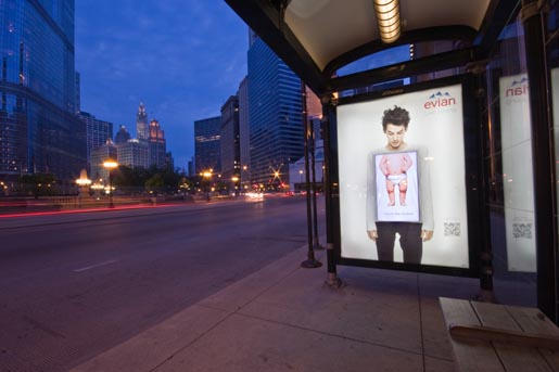 Evian Chicago Bus Shelter
