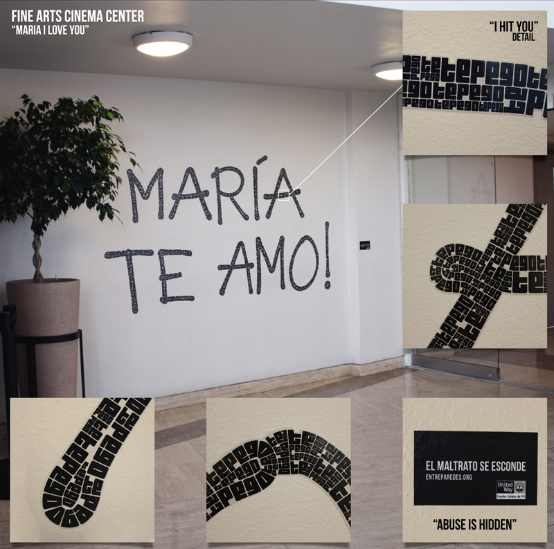 Te amo in graffiti letters