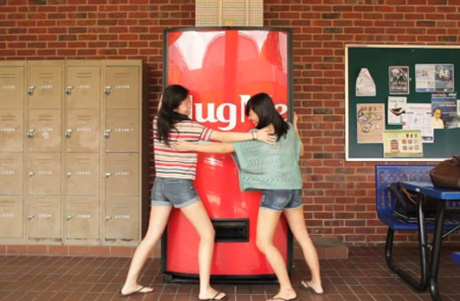 Coca Cola Hug Machine