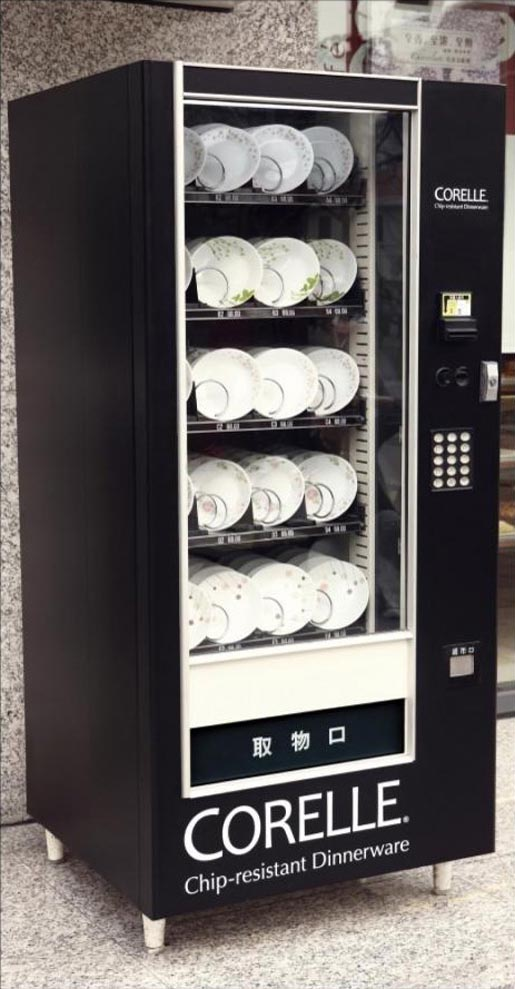 Corelle Dinnerware Vending Machine