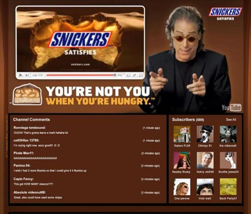 Snickers You're Not You When You're Hungry Youtube