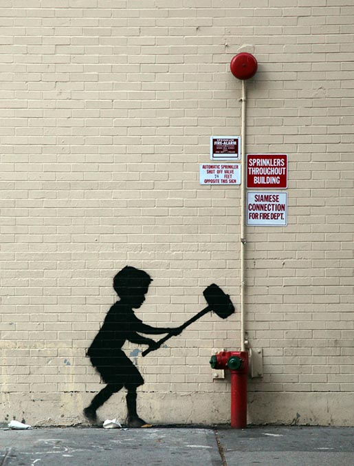 Banksy Boy with Hammer