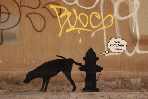 Banksy Dog and Hydrant