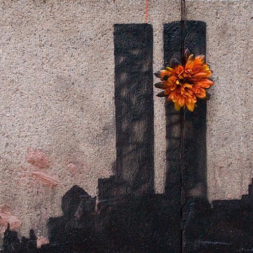 Banksy Stack Flower
