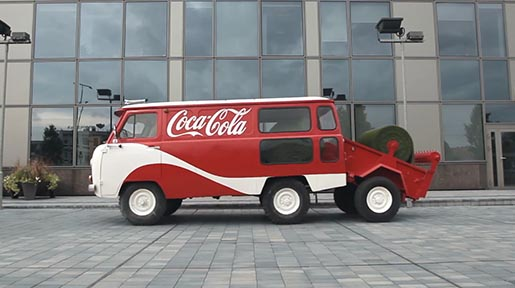 Coca Cola Truck lays out Happiness Park in Vilnius, Lithuania