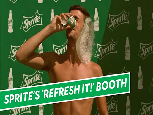 Sprite Refresh It Booth with Dog